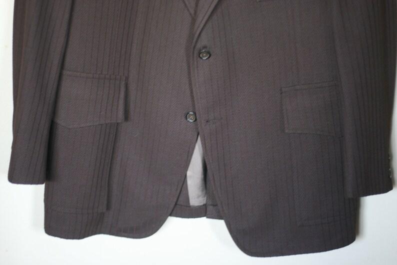 vintage brown polyester mens sport coat size 42