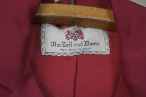 vintage 40s womens red suit suit klein and klein … - image 4