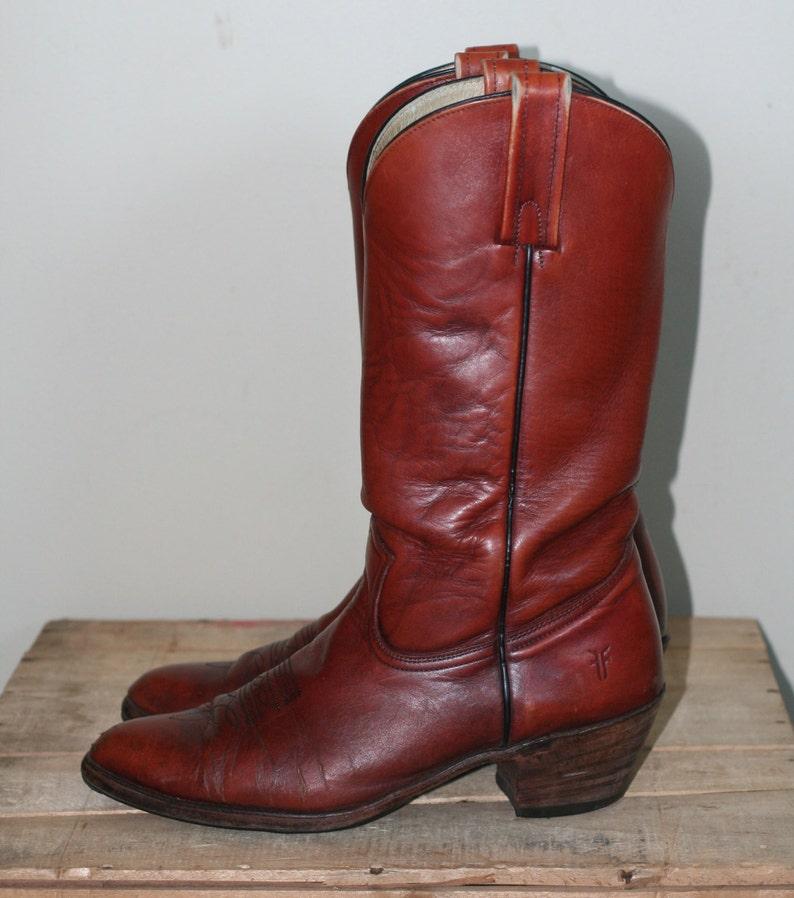 7c4b0b4c9ab3b vintage men's western style frye boots oxblood size 11D