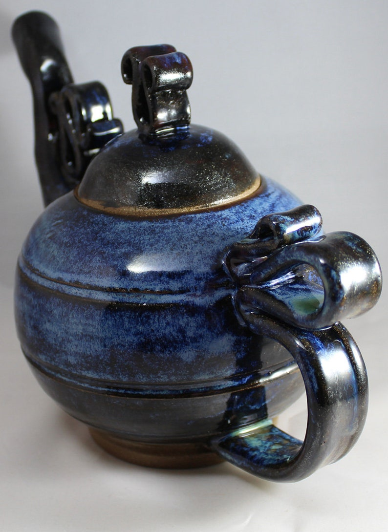 Handmade Ceramic Clay Aurora Glaze Teapot