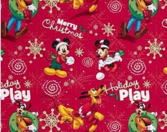popular items for disney christmas fabric - Disney Christmas Fabric