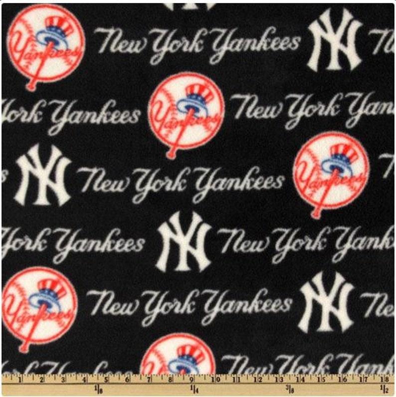 564938bb35d7b 2 yards MLB Fleece Major League Baseball New York Yankees Blue/Red/White  New Micro Plush Chenille Fleece FABRIC 60 inch wide 6569-B