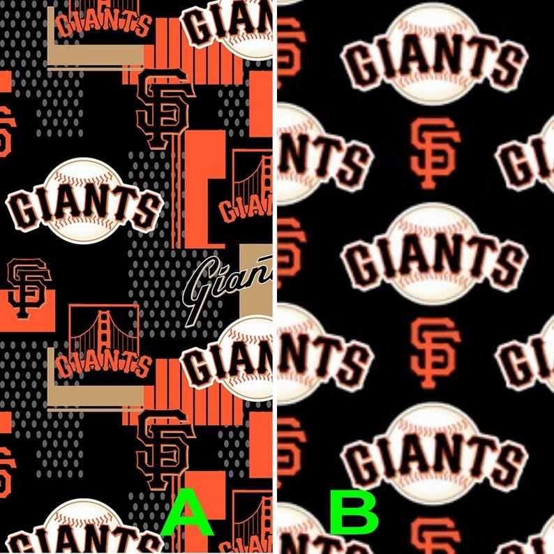 fb79333e7c868 Two Patterns To Choose - MLB San Francisco Giants Cotton Fabric By The Yard  - Half Yard Major League Baseball Logo