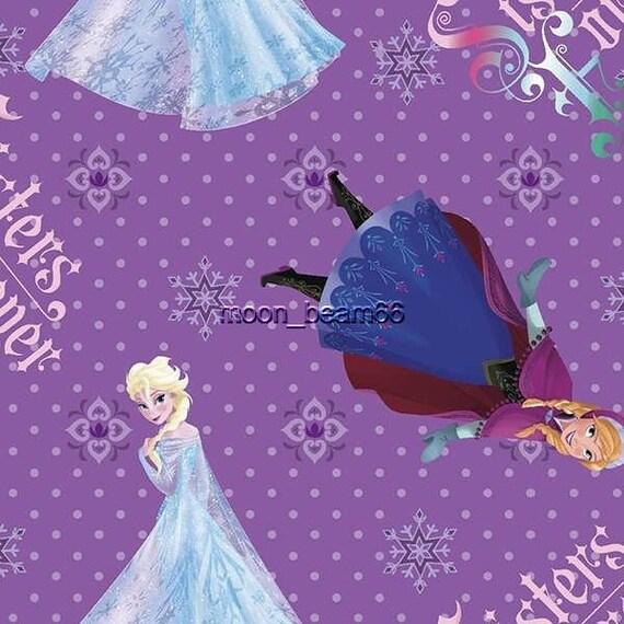 Disney frozen sisters purple quilt fabric BTY Anna Elsa cotton