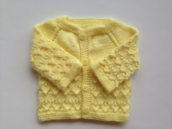 Clothes, Shoes & Accessories Hand Knitted Baby Cardigans Newborn yellow