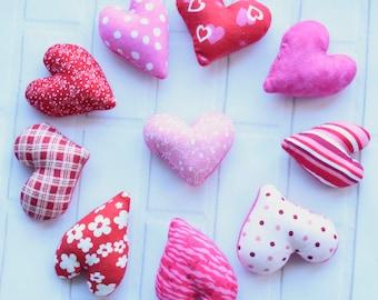 Mini heart valentine's gift - Valentine garland - hearts keychain - class valentine treats - valentines decor - valentines day kids gift