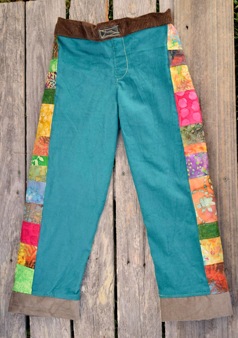 Custom PATCHWORK Upcycled Boho Jeans  Hippie Earthy kid's image 0