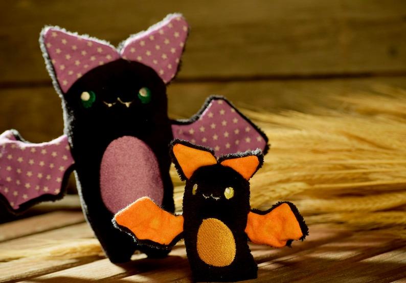 Bat Plushie  Not-so-scary Halloween Vampire bat Stuffie  image 0