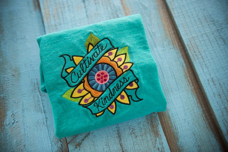 Cultivate kindness shirt flower tshirt  Random acts of image 0