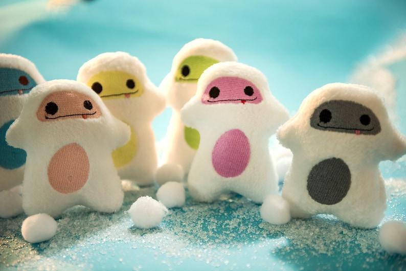 Yeti Plush  Snowman Ornament  Stocking Stuffer  Mini image 0