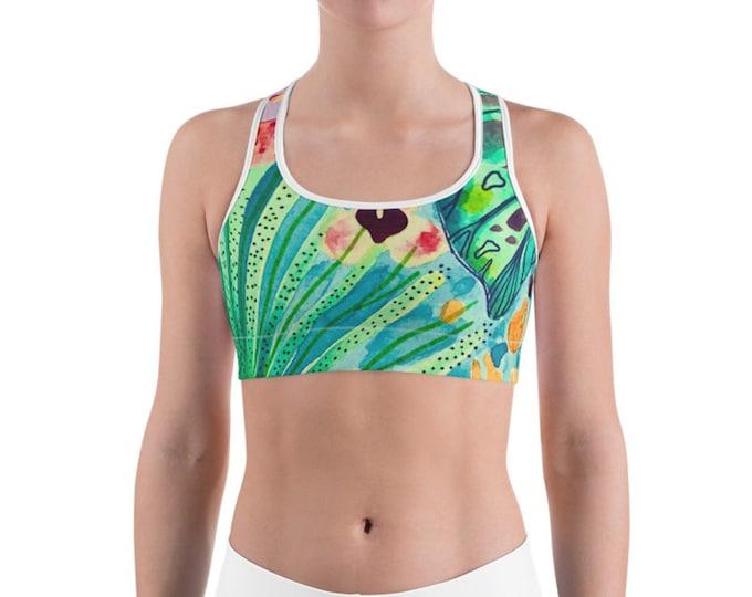 Sports bra, Vintage Samba (white)