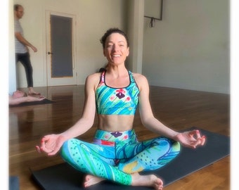 Yoga Leggings, Vintage Samba