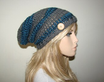 a2400a77d91 dark blue grey slouchy beanie