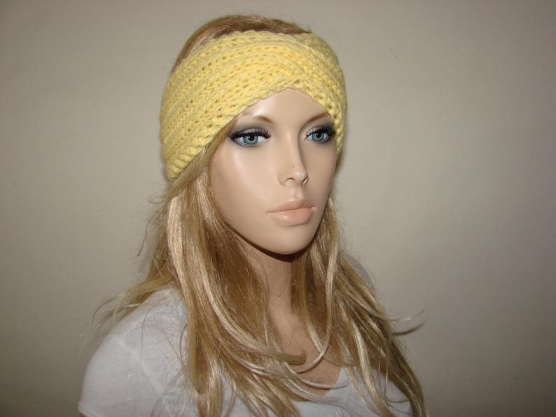 Yellow Knit Turban Headband Knitted Headband twist headband  5b6f45e4f603