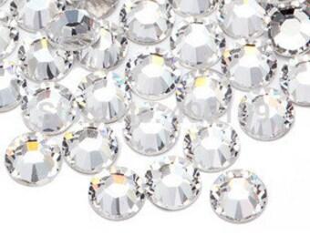 1440 x Crystal clear rhinestones Swarvoski crystals, size SS6, fingernail, nail art, hotfix