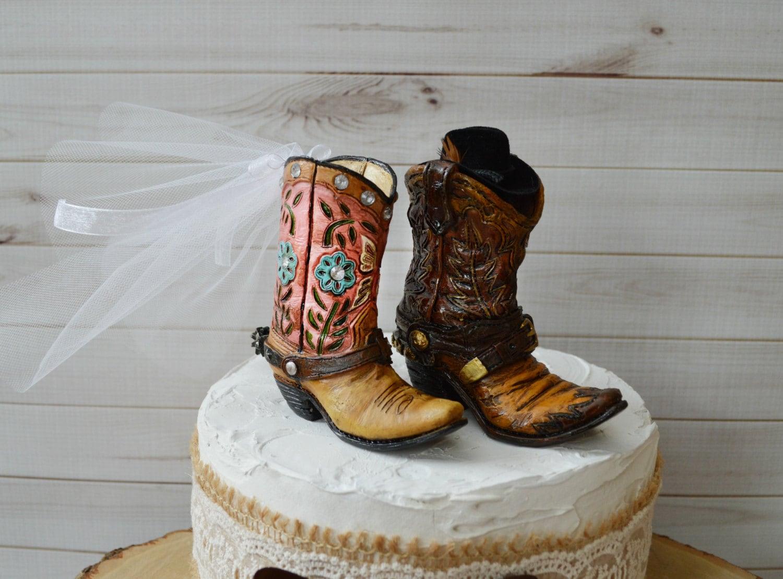 Cowboy-Stiefel Hochzeitstorte Topper für Bräutigam | Etsy
