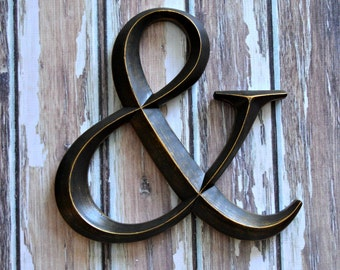 Large ampersand wedding decoration photo prop photo booth home decor art wall hanging letter symbol bride groom wedding sign photography