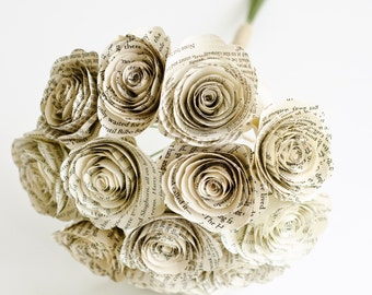 12 Roses Made From Books