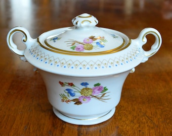 Vintage China ~ Old Ivory Coventry Syracuse Sugar Bowl and Lid