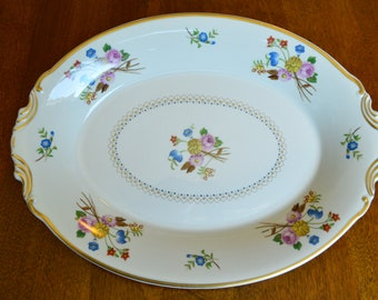 """Vintage China ~ Old Ivory Coventry 12"""" Oval Serving Platter"""