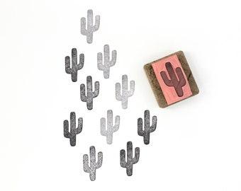 SALE cactus stamp, mini cactus stamp, mini stamp, small cactus stamp, cactus art, cactus scrapbook, handmade art, cacti art, succulent stamp