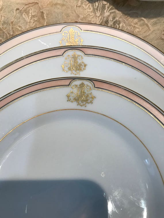 Antique French Dinnerware Set 9 Old Paris Style Monogrammed Etsy