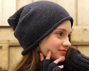 Alpaca Slouch Beanie, Hand knitted, 100% Alpaca Wool Toque, Winter Alpaca Wool Slouchy Hat, Ethical, Plastic Free, Fair trade gift, Mamacha