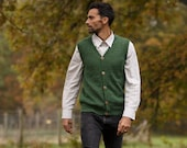 V-neck vest waistcoat alpaca wool knitted warm men's sweater woollen knit pullover 100% alpaca fibre, natural fibres, plastic free eco gift