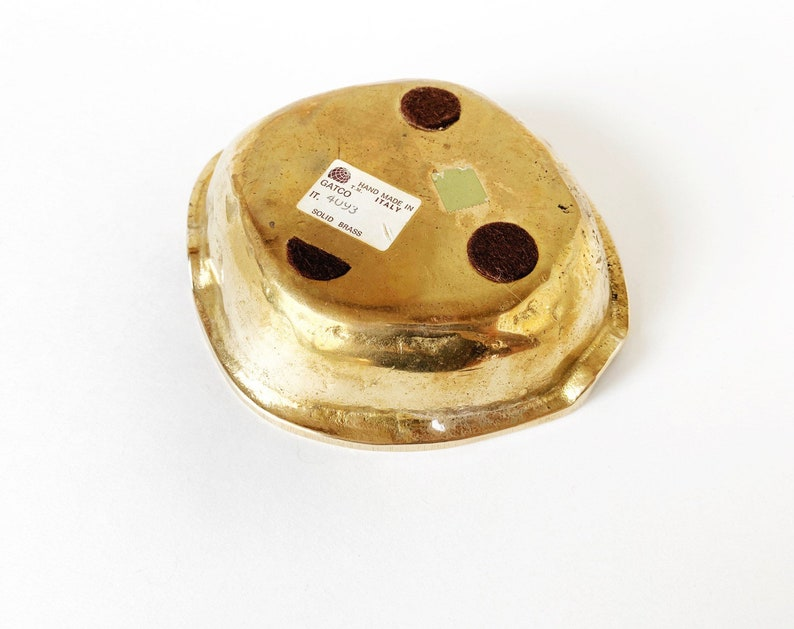 1970s Italian Brass Ash Receiver or Catchall