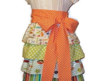 Michael Miller Somethings Fishy Cat and Kaboodle (Waist / Hostess / Half) Apron - Adult