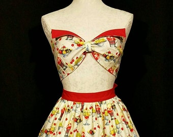 Two piece wing bust pin up dress