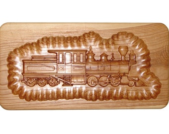 Engraved Steam Train Wall Hanging