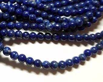 Lapis Blue Ball Beads 5mm