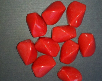 Red Rectangle Beads