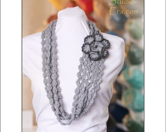 PATTERN COMBO- Crochet - Necklace / Neck Warmer / Cowl / Scarf with 3D Flower
