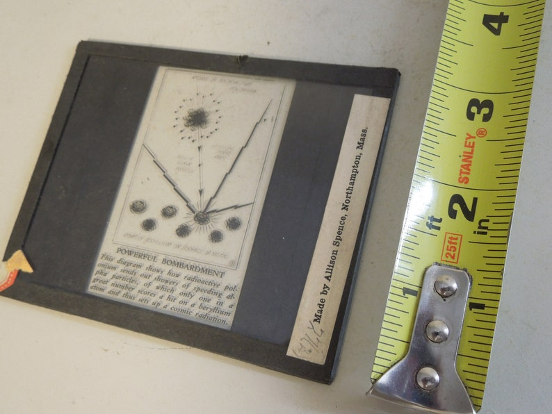 Science FREE PRIORITY SHIPPING!! Dark Room Thin Crystal Glass Plates Rare Dry Plate Of Atom Diagram