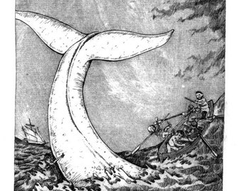 Etching - Moby Dick