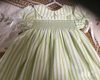Hand made new smocked dress size 6-12months