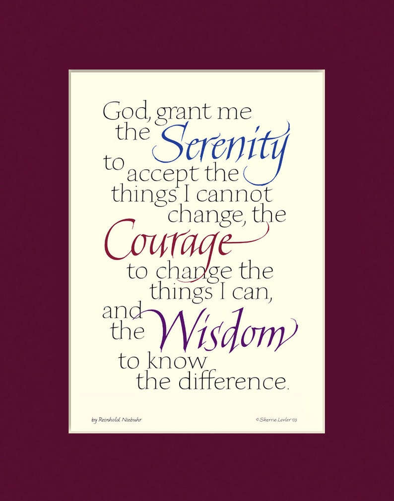 graphic about Free Printable Serenity Prayer referred to as Serenity Prayer, 8x10\