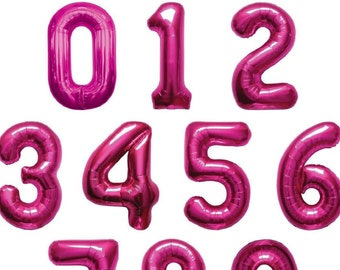 Hot pink Jumbo Balloon Number/ foil balloon/ number balloons/ Pink