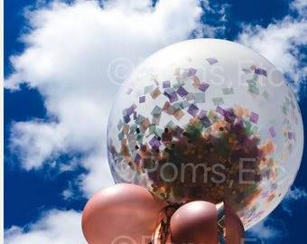 "Jumbo Confetti Balloon 36""-Tissue Paper - ANY COLOR you choose"