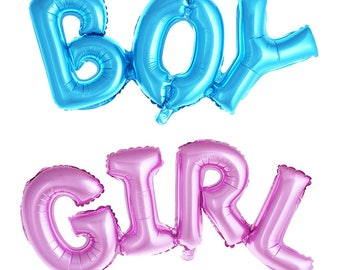 """42"""" Boy or Girl  Balloon/ / blue / pink/ air fill only/ script balloon/ birthday banner/ birthday balloon/ jumbo balloon/ helium"""