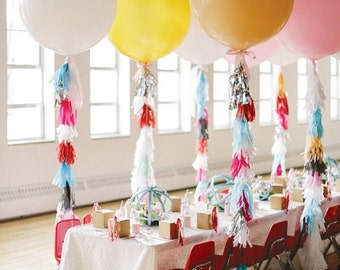 "36"" Giant Balloon With Balloon Tassels"