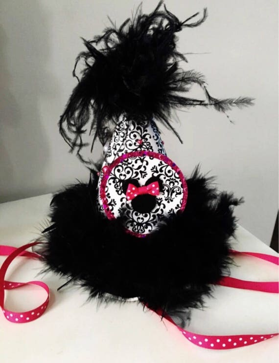 Girls Birthday Hat Minnie Mouse First Party