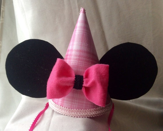 Minnie Mouse Birthday Hat Girls Over The Top Photo Prop First Pink
