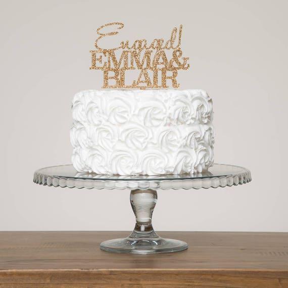 Personalised Cake Decoration Australia Custom Couple Name Wedding Wedding Cake Topper Engagement Celebration Cake Topper 2 Word Topper