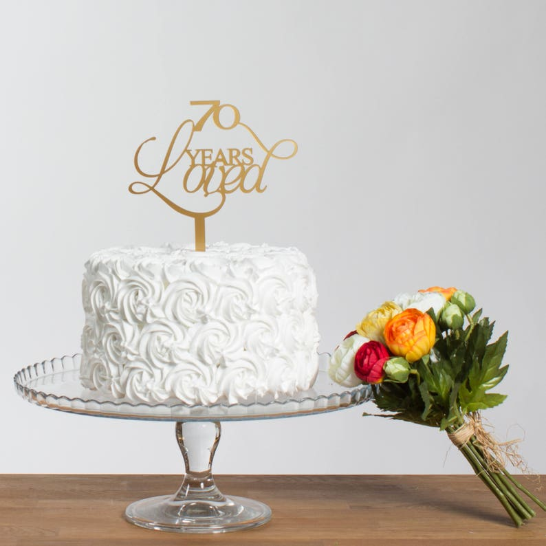 70 Years Loved Birthday Party Cake Topper Special Age