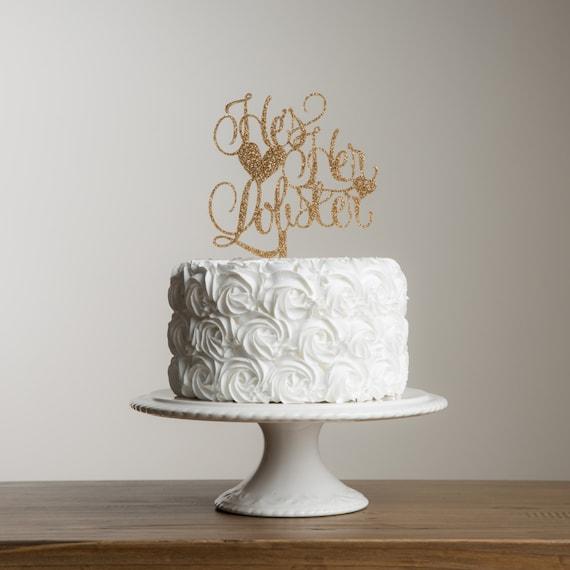 He S Her Lobster Cake Topper Friends Inspired Engagement Etsy