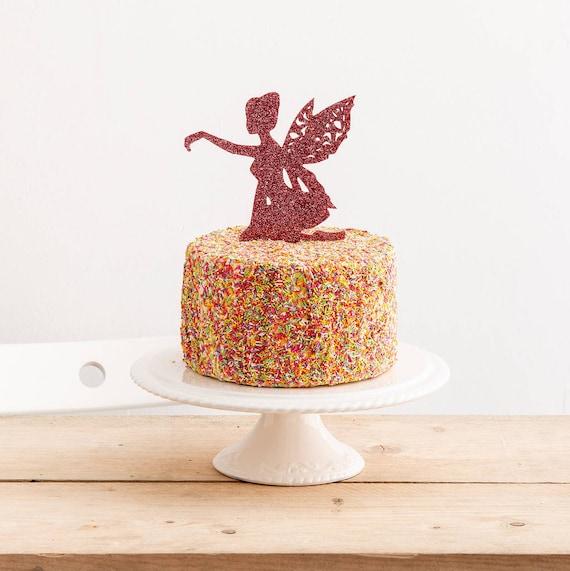 Fée Princesse acrylique cake topper-Filles Anniversaire-conte de fées