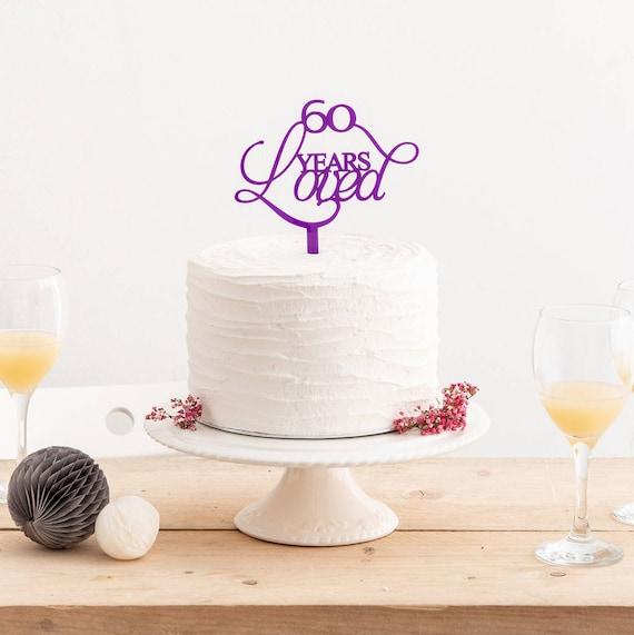 60 Anni Amato Torta Topper Compleanno Torta Decorazione 60th Birthday Celebrations Compleanno Acrilico Torta Topper Anniversario Decor